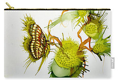 Green Fruit And Butterfly Carry-all Pouch