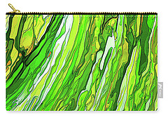 Green Garden Carry-all Pouch by ABeautifulSky Photography
