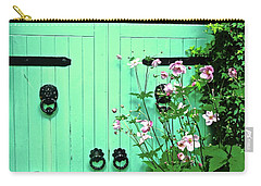 Green Gate With Flowers Carry-all Pouch by Stephanie Moore