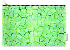 Green Giraffe Print Carry-all Pouch