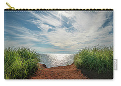 Carry-all Pouch featuring the photograph Green Grass And Red Sand by Chris Bordeleau