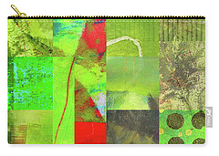 Carry-all Pouch featuring the digital art Green Grid by Nancy Merkle