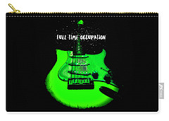 Green Guitar Full Time Occupation Carry-all Pouch