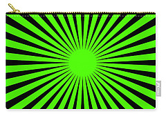 Carry-all Pouch featuring the digital art Green Harmony by Lucia Sirna