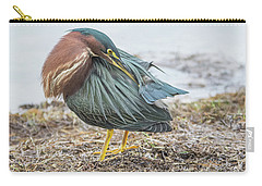 Green Heron 1334 Carry-all Pouch by Tam Ryan