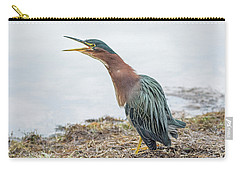Green Heron 1336 Carry-all Pouch by Tam Ryan