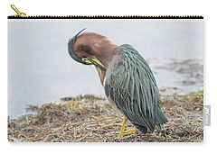 Green Heron 1337 Carry-all Pouch by Tam Ryan