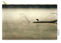 Green Heron In Dawn Mist Carry-all Pouch