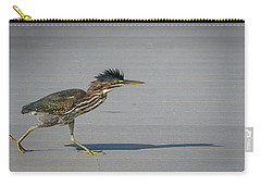 Carry-all Pouch featuring the photograph Green Heron On A Mission by Cindy Lark Hartman