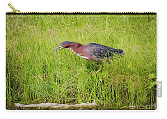Carry-all Pouch featuring the photograph Green Heron On The Hunt by Ricky L Jones