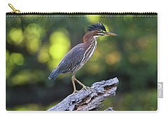 Green Heron Stump Carry-all Pouch