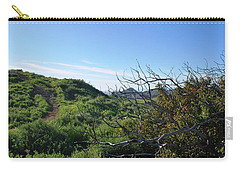 Carry-all Pouch featuring the photograph Green Hills And Bushes Landscape by Matt Harang