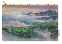 Green Hills And Fog At Sunrise Carry-all Pouch