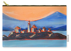 Carry-all Pouch featuring the painting Green Island Lighthouse by Yulia Kazansky