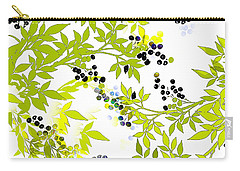 Green Leaf Spring Carry-all Pouch by Saundra Myles