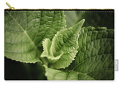 Carry-all Pouch featuring the photograph Green Leaves Abstract II by Marco Oliveira