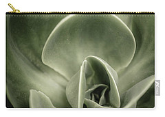 Carry-all Pouch featuring the photograph Green Leaves Abstract IIi by Marco Oliveira