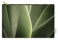 Carry-all Pouch featuring the photograph Green Leaves Abstract by Marco Oliveira