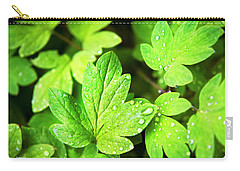 Carry-all Pouch featuring the photograph Green Leaves by Christina Rollo