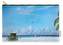 Green Lifeguard On Siesta Key Carry-all Pouch