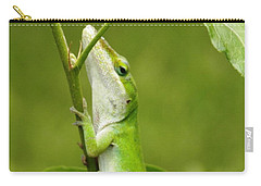 Green Lizard On Hold Carry-all Pouch