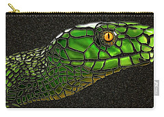 Green Mamba Snake Carry-all Pouch