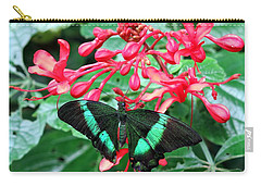 Green Moss Peacock Butterfly Carry-all Pouch