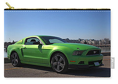 Green Mustang Carry-all Pouch by Davandra Cribbie