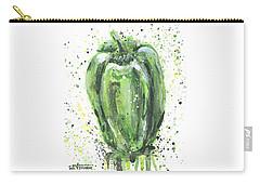 Green Pepper Carry-all Pouch by Arleana Holtzmann