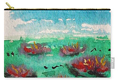 Green Pond With Many Flowers Carry-all Pouch