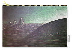 Carry-all Pouch featuring the drawing Green Pyramid B by Mayhem Mediums