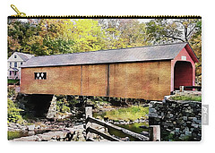 Carry-all Pouch featuring the photograph Green River Covered Bridge - Vermont by Joseph Hendrix