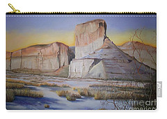 Green River Wyoming Carry-all Pouch by Marlene Book