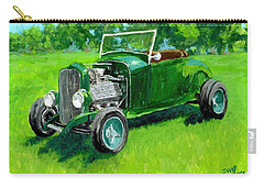 Green Roadster Hot Rod Carry-all Pouch