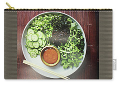 Carry-all Pouch featuring the photograph Green Salad Presentation Chef Cuisine Kitchen Lifestyle Christmas Holidays Birthday Festivals Mom  by Navin Joshi