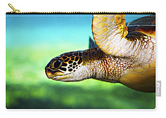 Green Sea Turtle Carry-all Pouch by Marilyn Hunt