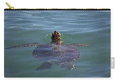Carry-all Pouch featuring the photograph Green Sea Turtle by RKAB Works