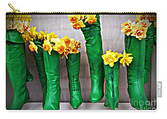 Green Shoes For Yellow Spring Flowers Carry-all Pouch