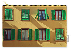 Green Shutters Of Florence Carry-all Pouch