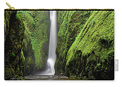 Green Slot Canyon Carry-all Pouch by Jonathan Davison