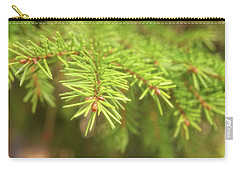 Green Spruce Branch Carry-all Pouch by Anton Kalinichev