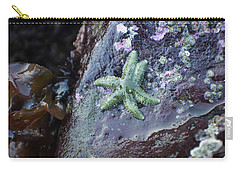 Carry-all Pouch featuring the photograph Green Starfish by Adria Trail