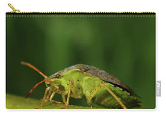 Carry-all Pouch featuring the photograph Green Stink Bug by Adria Trail