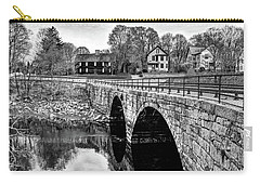 Green Street Bridge In Black And White Carry-all Pouch