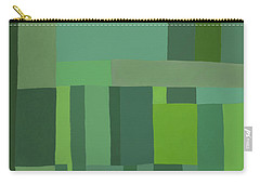 Green Stripes 2 Carry-all Pouch