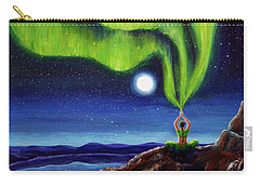 Green Tara Creating The Aurora Borealis Carry-all Pouch by Laura Iverson