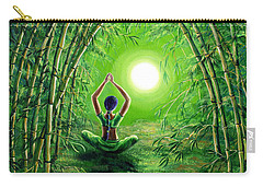 Green Tara In The Hall Of Bamboo Carry-all Pouch by Laura Iverson