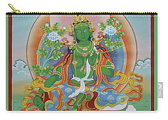 Green Tara With Retinue Carry-all Pouch by Sergey Noskov