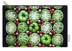 Green Tomato Slice Pattern Carry-all Pouch