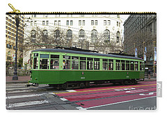 Carry-all Pouch featuring the photograph Green Trolley by Steven Spak